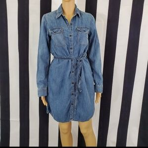 Gap Denim Dress Size S Button Down